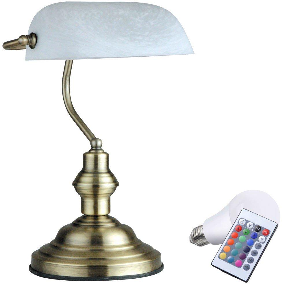 7 Watt RGB del color de lámparas LED tabla cambiar la lámpara de iluminación Alabaster del banquero: Amazon.es: Iluminación