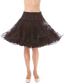 product image for Malco Modes Michelle Knee Length Petticoat-Fullest Dance Serious Skirt Volume (Black, Large)