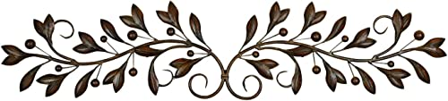 Deco 79 71885 Leaves and Berries Metal Scrollwork Wall D cor