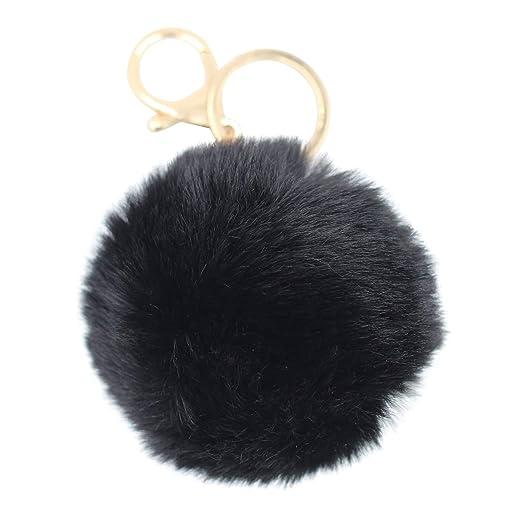 REAL SIC Pom Pom Keychain - Faux Fur Fluffy Charm For Women   Girls. Fake 837ba2c382c5
