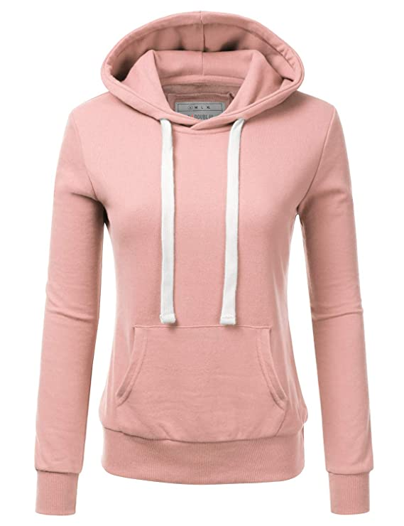 NINEXIS Womens Long Sleeve Fleece Pullover Hoodie Sweatshirts BLUSHPINK L best women's sweatshirts