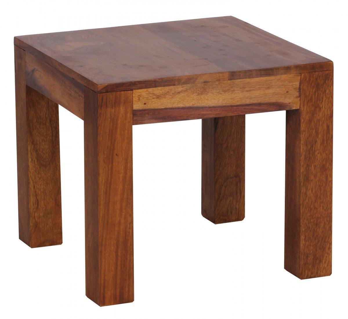 Wohnzimmermöbel massiv dunkel  FineBuy Couchtisch Massiv-Holz Sheesham 45 cm breit Wohnzimmer ...