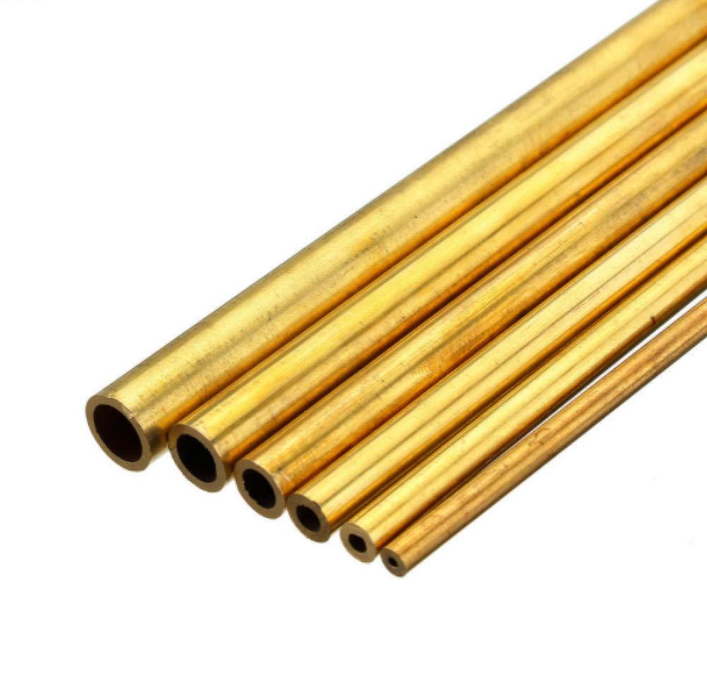 SUCAN 3Pcs 2-6mm Diam/ètre Solide Creux En Laiton Creux Tuyau En M/étal Creux Rond Rod Swing Rod Roulement Kit Assorti Pour BRICOLAGE Artisanat Outil Longueur 100mm 2mm