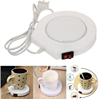 Bazaar 220v blanco eléctrico alimentado taza calentador calentador almohadilla café té taza de leche nosotros enchufe