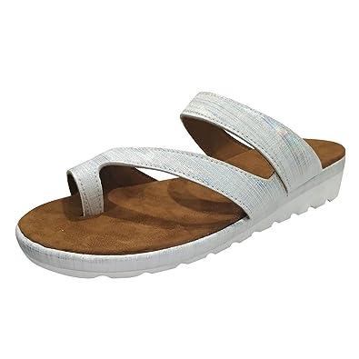 Women/'s Casual Thick Heel Wedge Slippers Flip Flops Open Toe Beach Sandals Shoes