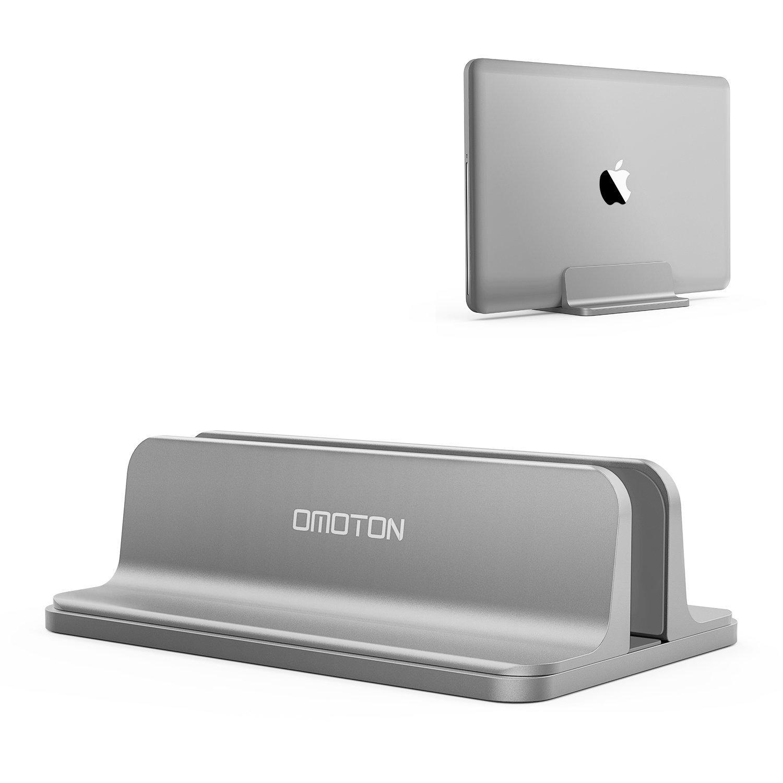 omoton verstellbarer vertikalen laptop st nder aluminium. Black Bedroom Furniture Sets. Home Design Ideas