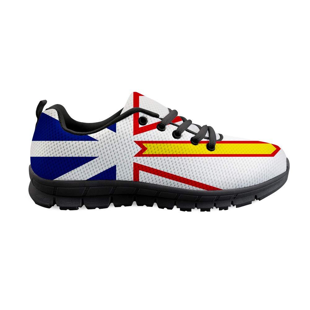 Owaheson Lace-up Sneaker Training Shoe Mens Womens Newfoundland and Labrador Flag