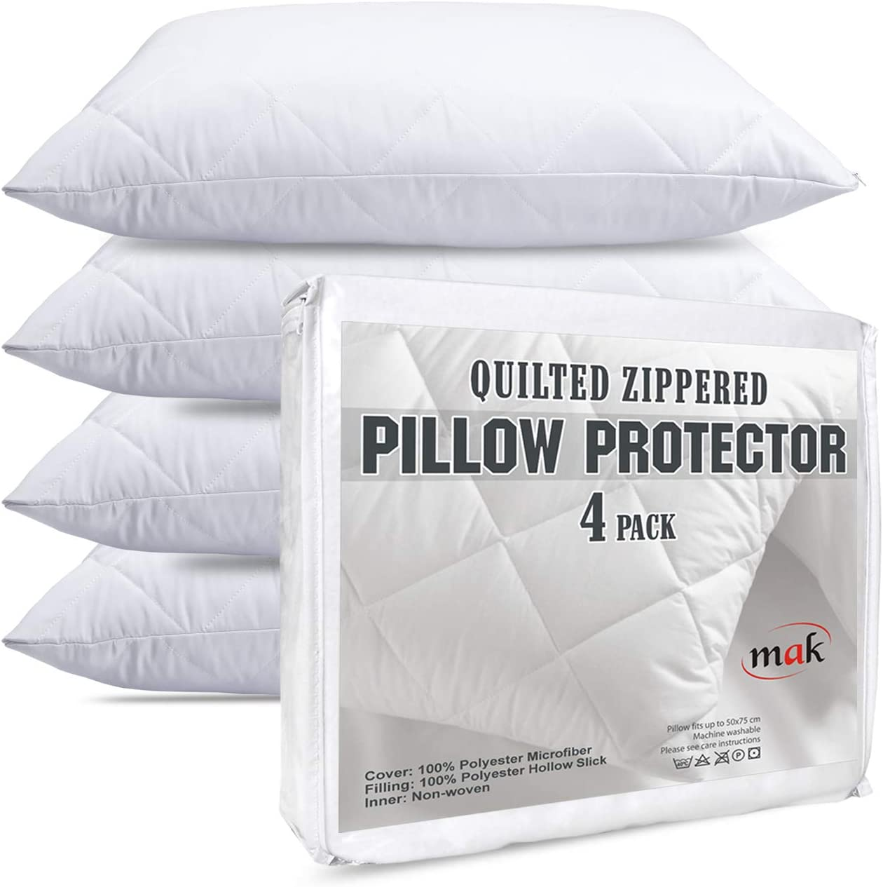 4 Pillow Protectors Covers Cases