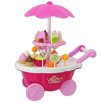 Juguete para niños Ice Cream Trolley, Juega House Toy, Juego de simulación Toy Set