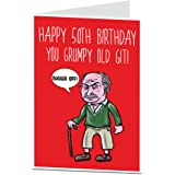 Funny 50th Birthday Card For Men Him Perfect Dad Brother Grumpy