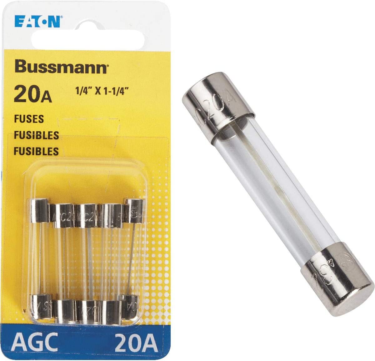 25 Pack Install Bay AGC20-25 20 Amp  AGC Fuses