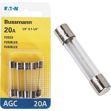 5 Pack 1//4 X 11//4 25 Amp Bussmann BP//AGC-25-RP AGC Automotive Glass Fuse