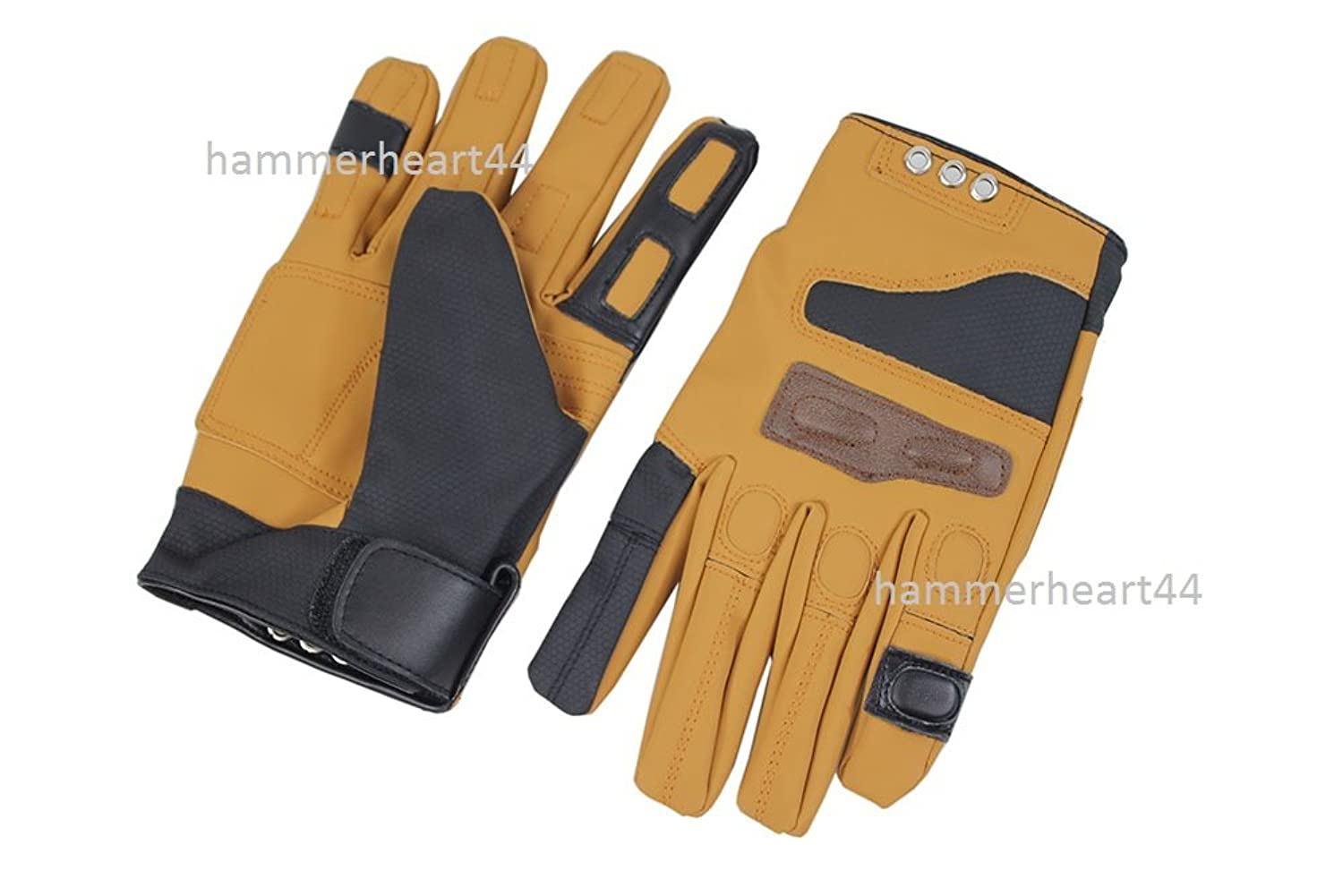 Men's Star-Lord Peter Quill Mustard Yellow Faux Leather Costume Gloves - DeluxeAdultCostumes.com