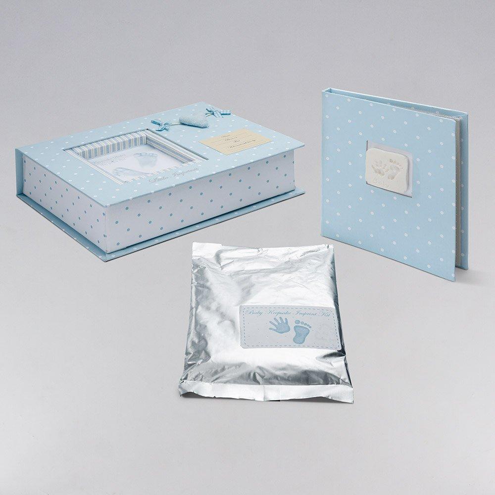 Canastilla beb/é Recuerdos Esencial cesta regalo reci/én nacido-Incluye un original set de huellas para grabar los pies o manos del beb/é