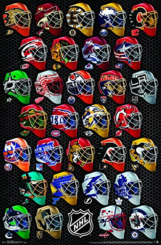 Nhl Hockey Wall - Trends International NHL-Masks Wall Poster, 22.375