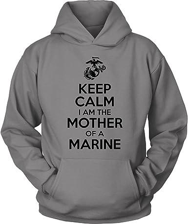 Marine Mom Raised My Hero Mens Full-Zip Up Hoodie Jacket Pullover Sweatshirt