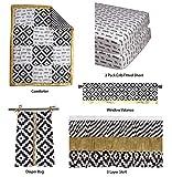 Bacati Love Black/Gold Unisex Patchwork 6 Piece Crib Set