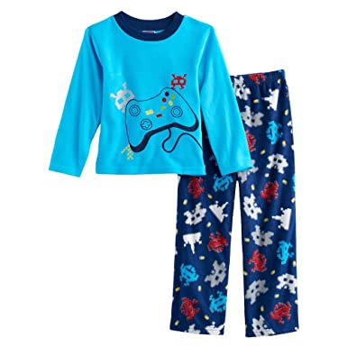 Boys Video Game Controller Space Invaders Gaming Fleece Pajama Pants Set ...