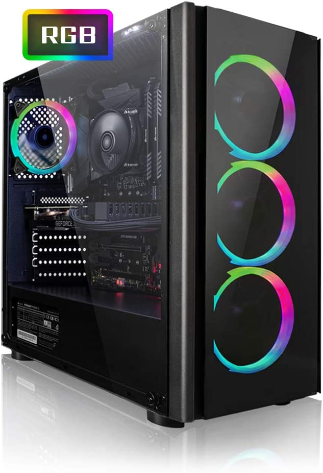PC Gaming - Megaport Ordenador Gaming PC AMD Ryzen 5 2600 6x3.90GHz Turbo • Windows 10 • GeForce GTX1660 6GB • 1000GB HDD • 240GB SSD • 16GB RAM • WLAN • PC Gamer • Ordenador de sobremesa