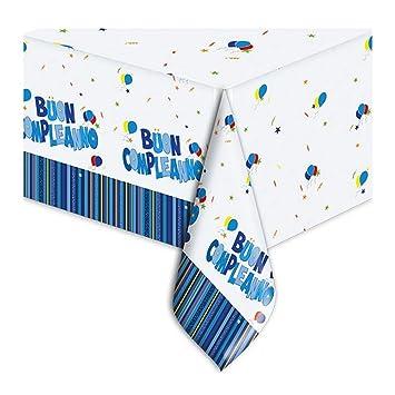 Big Party Mantel PVC con Texto Feliz Cumpleaños y diseños ...