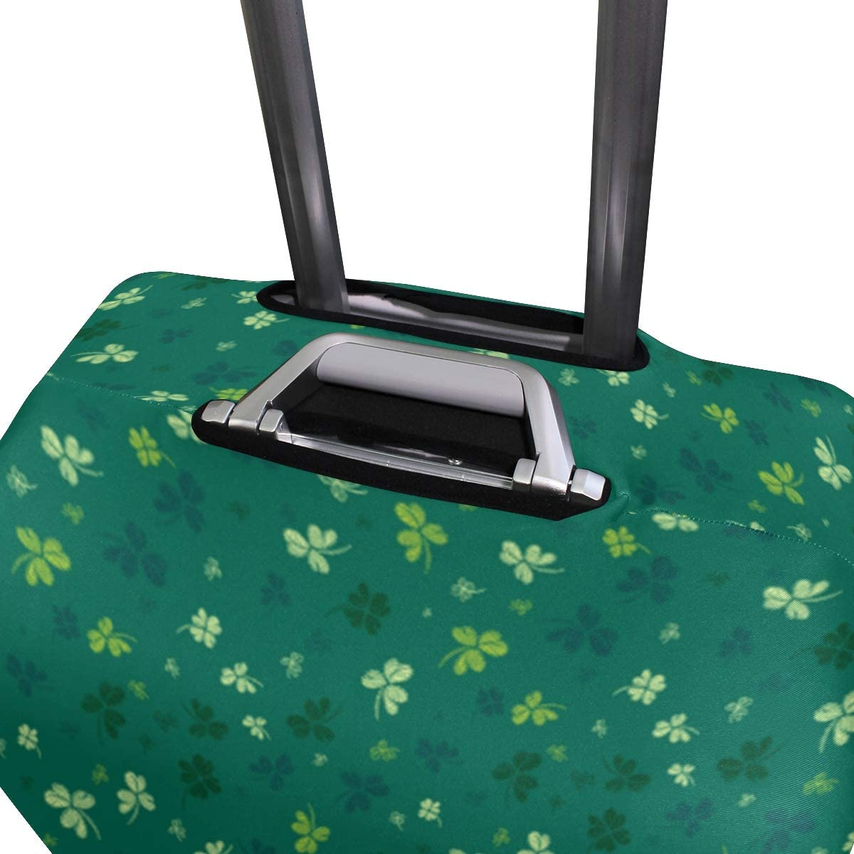-Green Shamrock St Patricks Day Pattern Fashion Creative Design Anti-Scratch Stretchy Travel Suitcase Protector Baggage Covers M 18//20//24//28//32 Inch Spandex Travel Luggage Cover