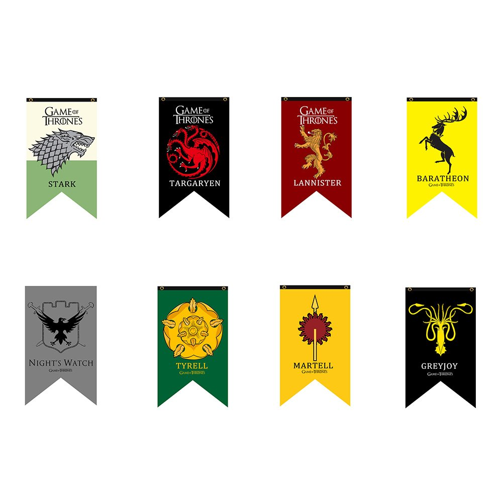 Game of Thrones House Sigil Wall Banner 30'' by 50'' (8 Houses Package-1)