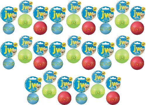 JW iSqueak Rubber Ball Large 24pk by JW