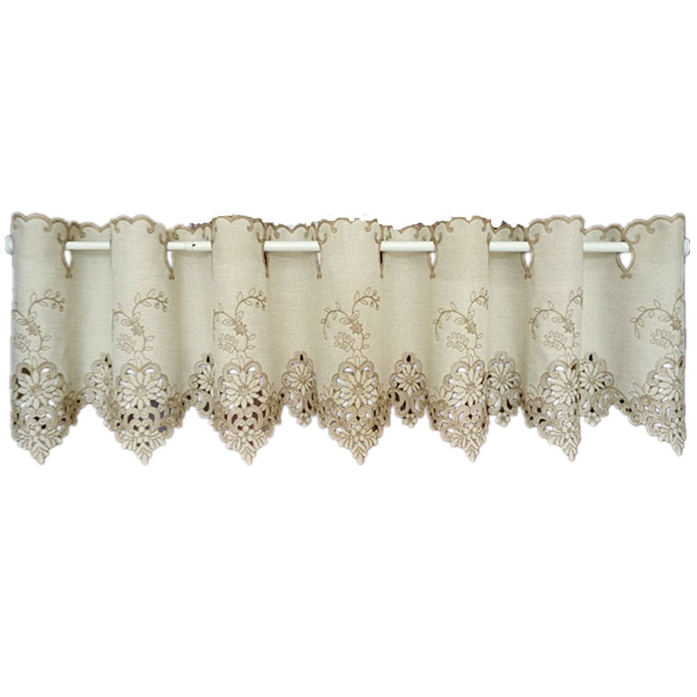 Abreeze Decorative Kitchen Curtain Valances Short Windows Curtains Kitchen Tiers Curtain Width 59 by Length 12 Inch