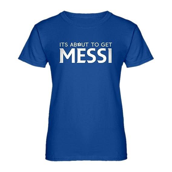 Indica Plateau Para Mujer Su Alrededor Conseguir Messi Camiseta: Amazon.es: Ropa y accesorios