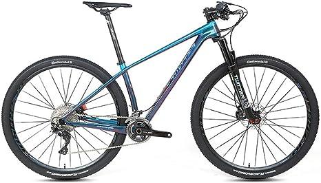 BIKERISK Bicicleta de montaña, Que Ofrece 15/17/19 Pulgadas/Alta a la tracción del Marco de Fibra de Carbono, 22/33 Velocidad de Conjunto Embrague, 27,5/29 Pulgadas Azul Wheels: Amazon.es: Deportes y aire libre