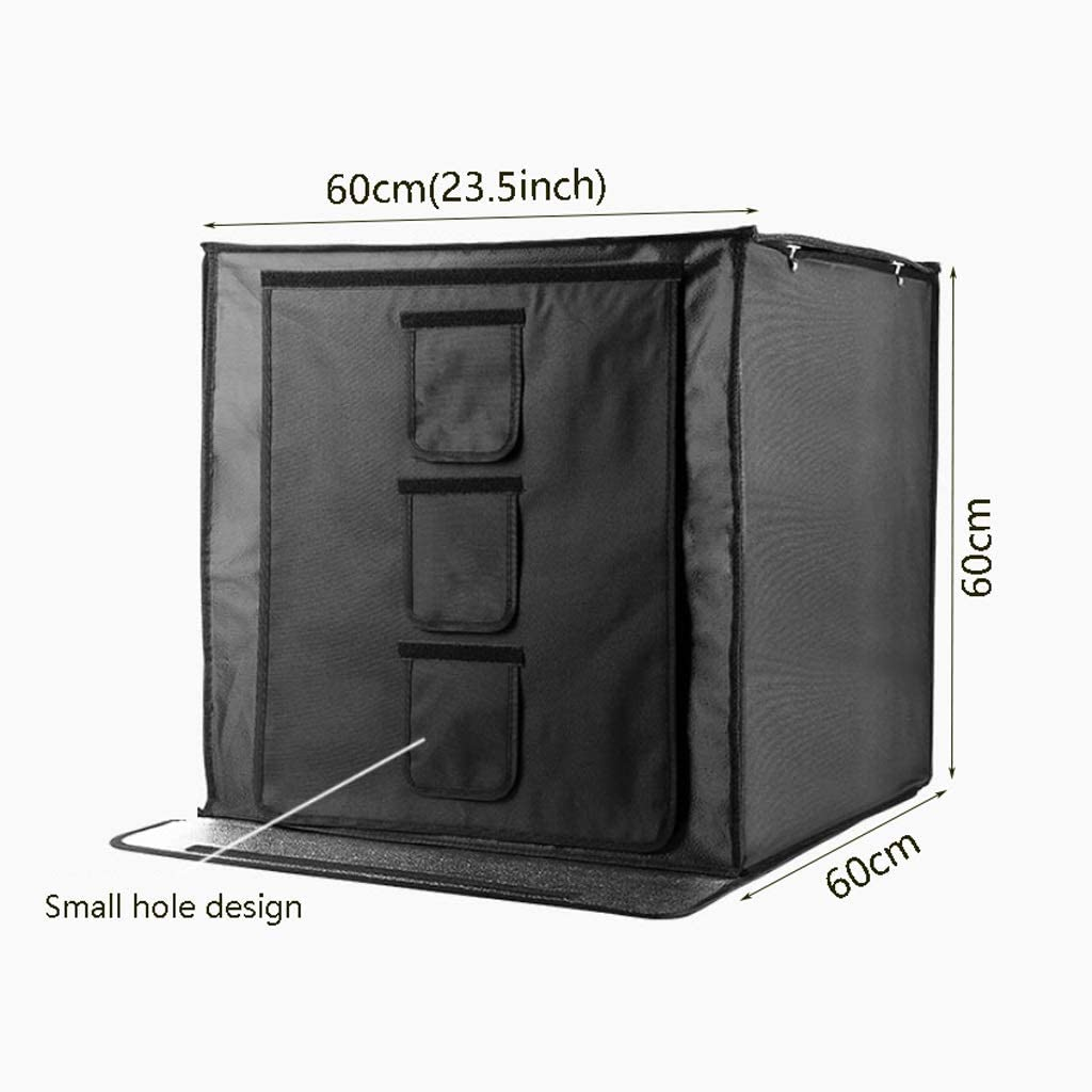 ZWS Photography Accessories Portable Photo Tent LED Lights Photography Light Box Photography Studio Set Small Photo Box Studio Color : Black