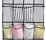 MISSLO Over The Door Shoe Organizer 24 Large Mesh