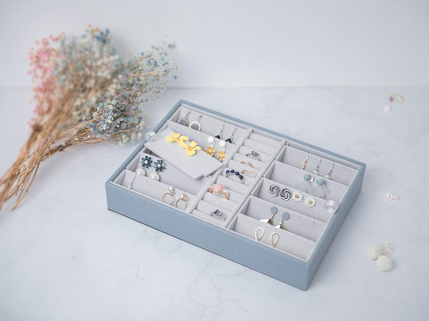 Two Layers Ring Earring Holder Secret Santa Gifts for Women Girls Earring Ring Fanatic-Blue X/•RHEA Earring Holder