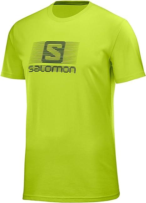 Salomon Blend Logo SS tee M - Camiseta, Hombre, Verde(Acid Lime): Amazon.es: Deportes y aire libre