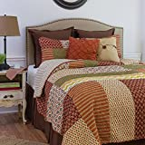 C&F Home 82170.3KSET Santa Ana King 3Piece Cotton Quilt Set,Multicolor,King