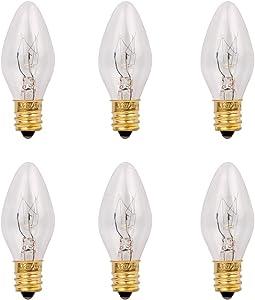 Salt Lamp Bulbs Himalayn Original Replacement Bulbs E12 Socket Long Lasting Incandescent Light Bulbs-6 Pack