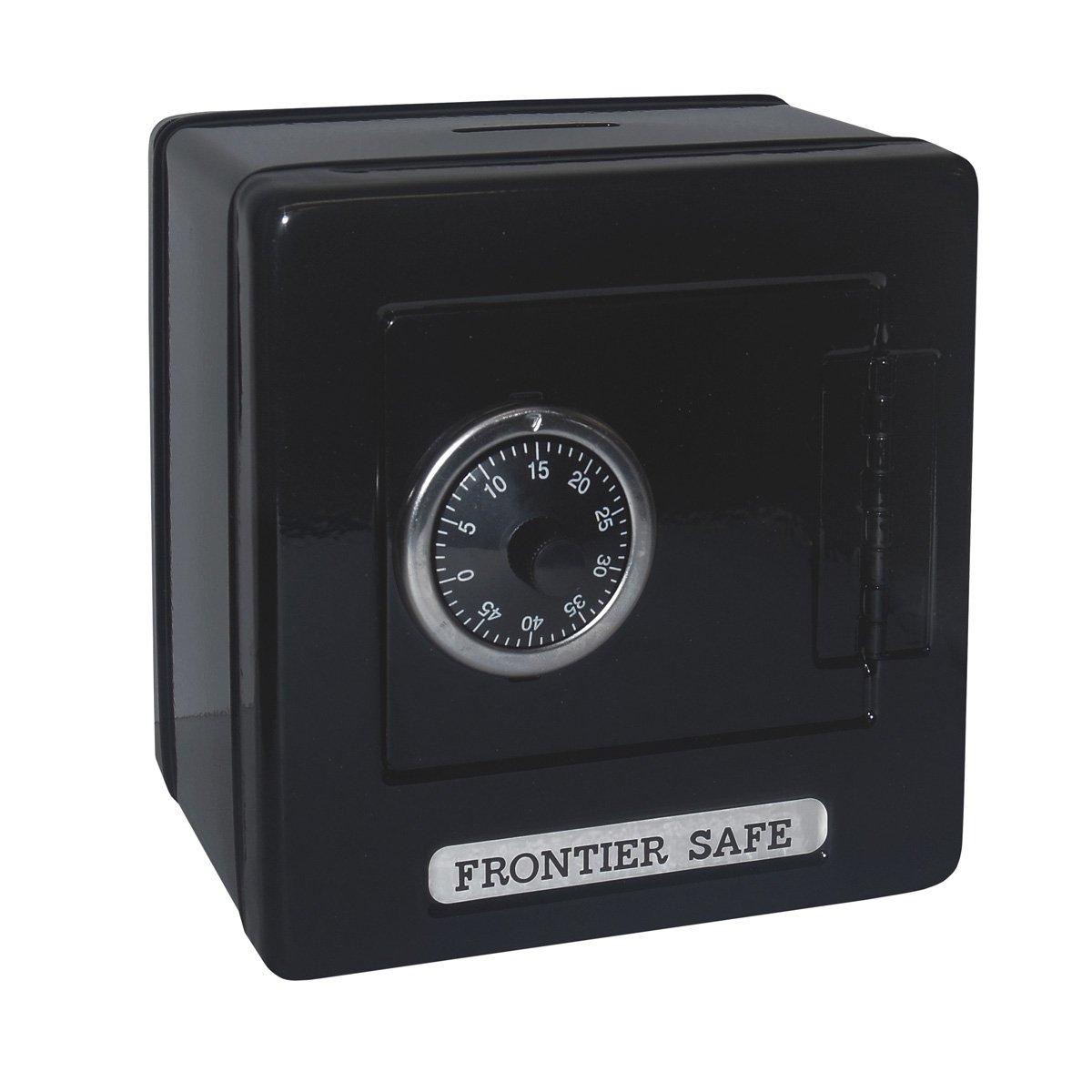 Kid 's FrontierセーフCoinセーバーBank with 2桁の組み合わせロック – ブラック B0777QLCLK