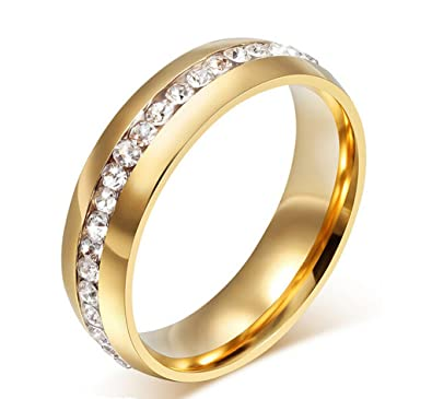 Amdxd Schmuck 18k Vergoldet Gold Damen Ringe Zirkonia Elegante