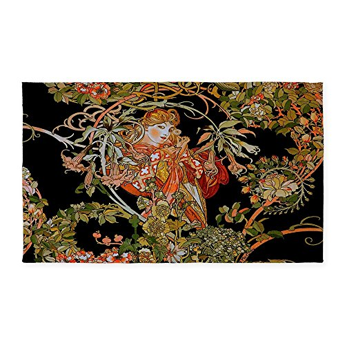 CafePress Art Nouveau 3'X5' Decorative Area Rug, Fabric Throw Rug Art Nouveau Door Furniture