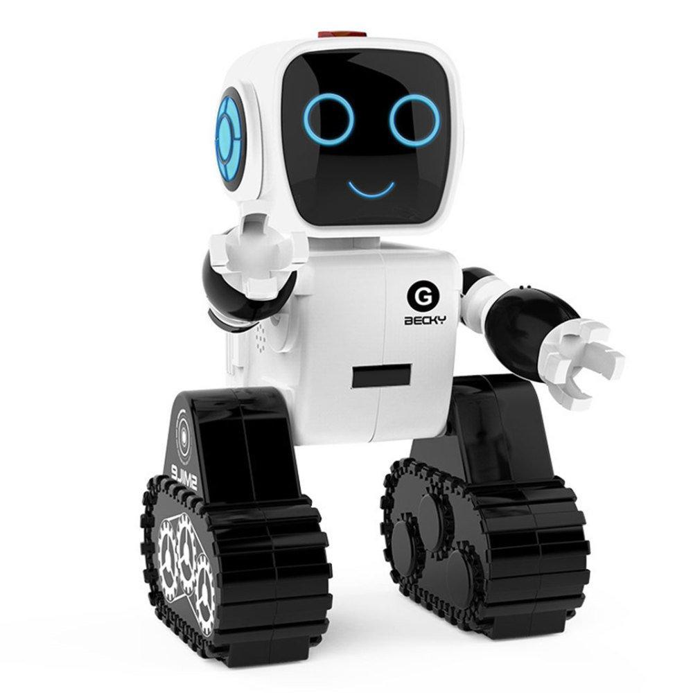 KYOKIM Auxiliar De Transporte Inteligente De Alta Tecnología Baile De Tanque De Almacenamiento De Los Niños Control Remoto Robot,White