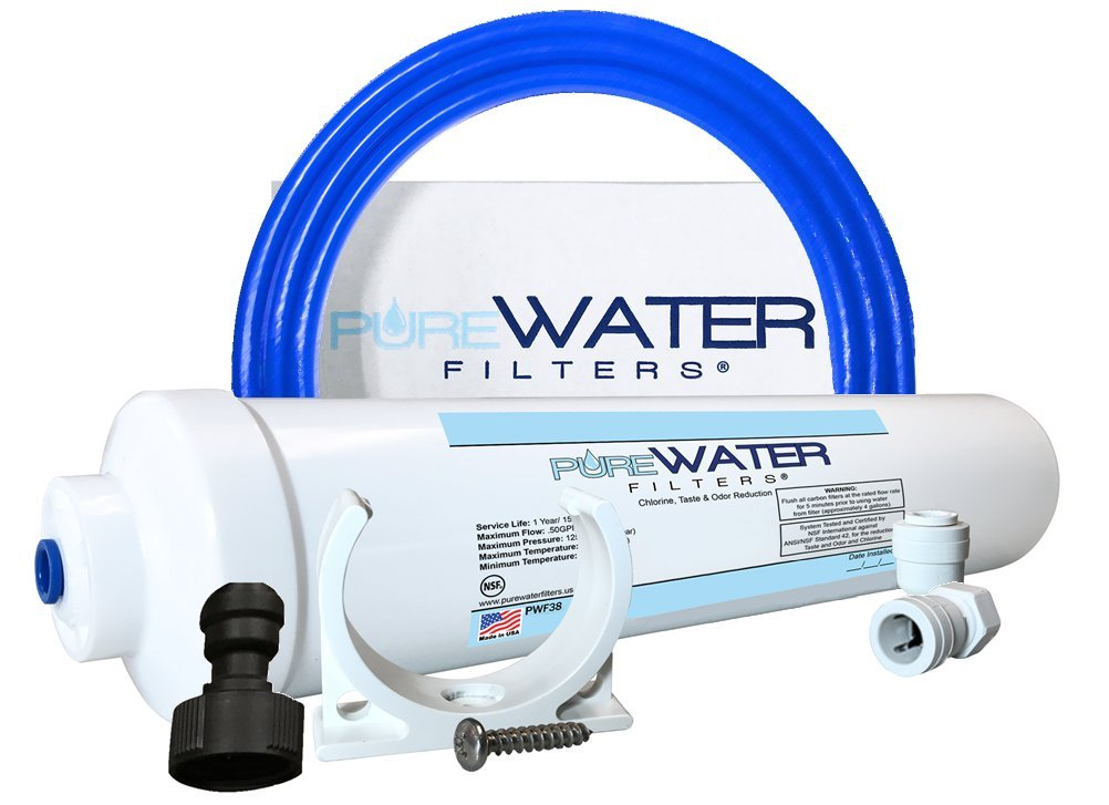 Under Sink Water Filter Install Kit, Complete Filtration System for Kitchen and Bathroom Faucets by PureWater Filters