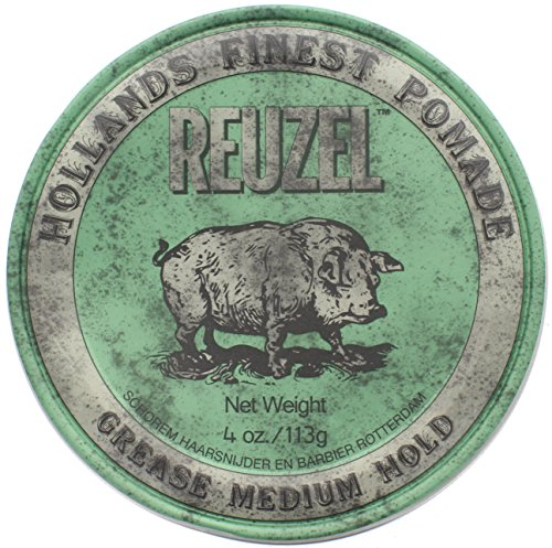 Reuzel Medium Shine Green Pomade, 4 Ounce