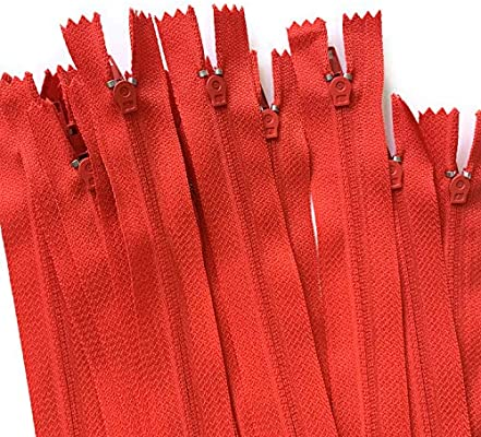 DOITEM 70pcs 23cm//9 Inch 30cm//12 Inch Multicolor Nylon Coil Zippers for Sewing and Crafts 7 Colors