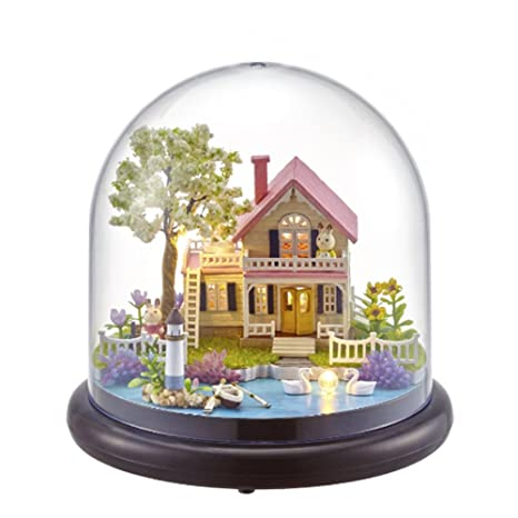 Toys & Hobbies The Cheapest Price Hot Diy Glassball Birthday/valentine/christmas Gifts Miniature Furnitures Model Kits 3d Assemble Toys Creative Diary Dollhouse Architecture/diy House/mininatures