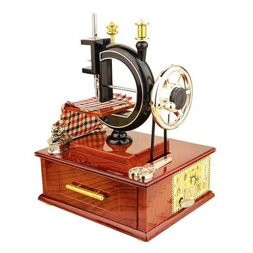 Yloung Music Box Retro Classic Máquina De Coser con Manivela ...