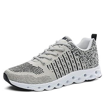8eb99ee2f3ec Amazon.com: HEmei Men's Sneakers, Spring/Fall Knit Mesh Sports Shoes ...
