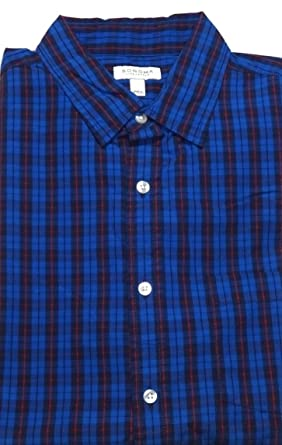 bd3f9bd6c4f ... Sonoma Mens Classic Fit Poplin Casual Shirt Dark Blue Check at