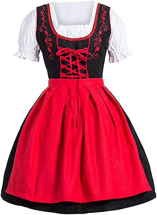 LPxdywlk Talla Grande Mini Vestido con Cordones Uniforme De ...
