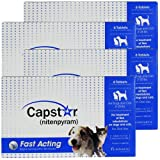 4 PACK CAPSTAR Blue for Dogs or Cats 225 lbs (24 tablets)