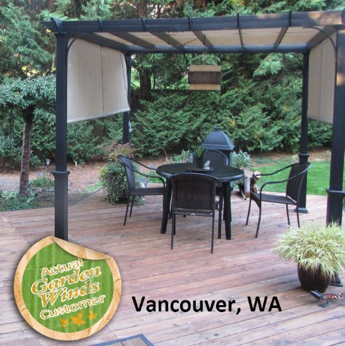 Garden Winds Replacement Canopy For Gt 10 Ft Pergola